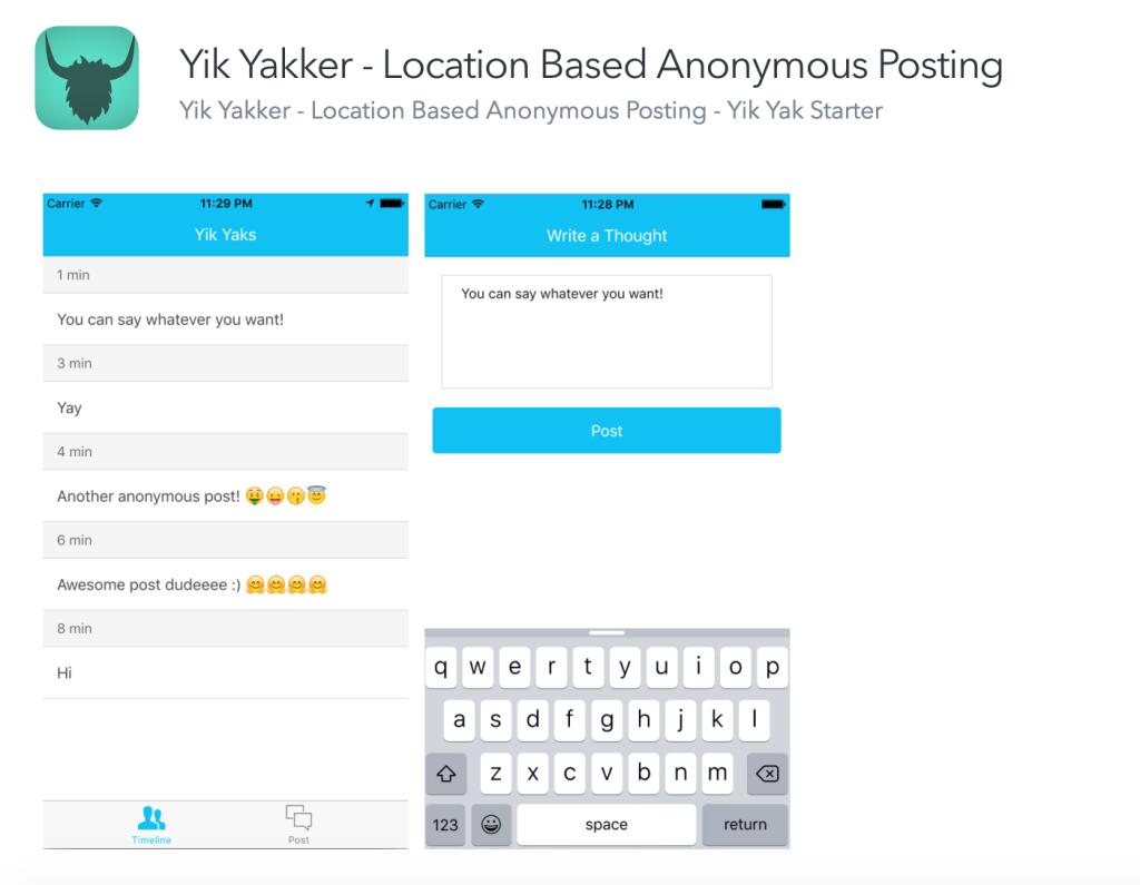 Anonymous posting app